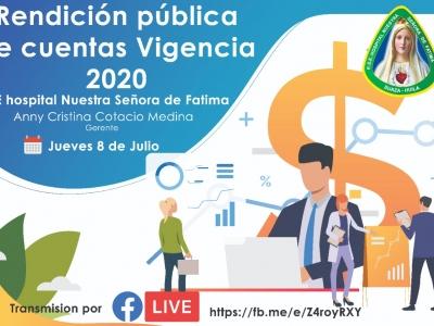Oficio Invitacion Rendicion de Cuentas 2020 ESE SUAZA